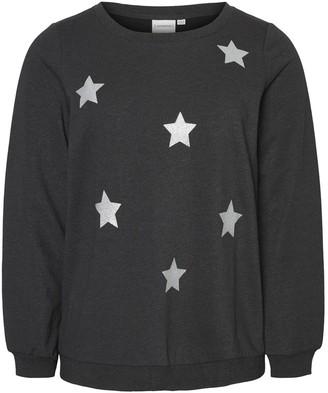 Junarose Jrdonna Star Print Sweater