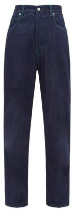 Golden Goose Kim Contrast Topstitched Straight Leg Jeans - Womens - Indigo