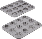 JCPenney CAKE BOSS Cake BossTM 2-pc. Molded Nonstick Cookie Pan Set - Hearts & Flowers