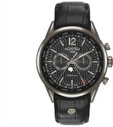 Roamer Men's Black Dial Leather Band Watch