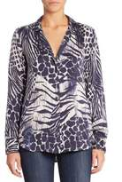 Equipment Adalyn Animal Printed Blouse