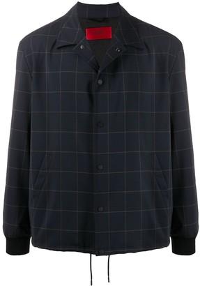 HUGO BOSS Grid Print Shirt Jacket