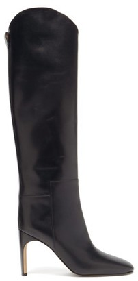 Jil Sander Slouchy Knee-high Leather Boots - Black