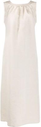 Missing You Already Shirred Reversible Midi Dress