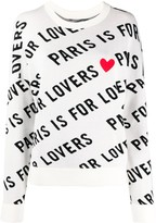 Zadig & Voltaire Zadig&Voltaire Paris is For Lovers heart print jumper