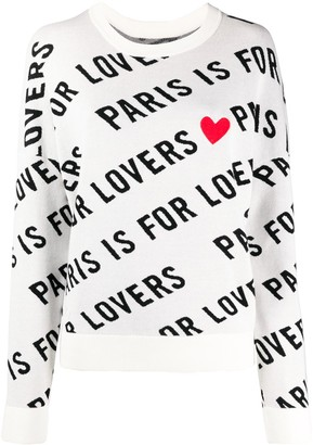 Zadig & Voltaire Paris is For Lovers heart print jumper