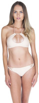 Bettinis Keyhole Halter W/ Twist Back