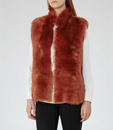 Reiss Tessa Reversible Shearling Gilet