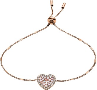 Fossil Mosaic Heart Glitz Bracelet