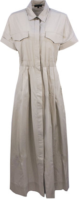 Antonelli Beige Cotton Long Dress