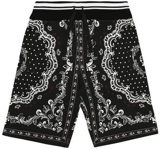 Dolce & Gabbana Printed cotton-jersey shorts