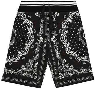 Dolce & Gabbana Kids Printed cotton-jersey shorts