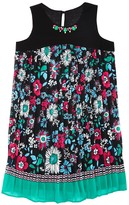 Us Angels Girls' Pleated Floral Dress