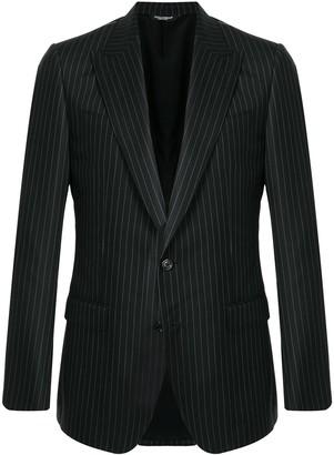 Dolce & Gabbana Single-Breasted Pinstriped Blazer