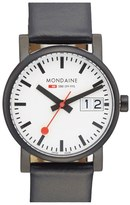 Mondaine Men's '(Evo)Lution - Sbb' Leather Strap Watch, 30Mm