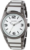 Vernier Women's VNR11100GN Two Toned Plastic and Link Strap Watch