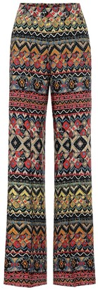 Etro High-rise wide-leg wool-blend pants