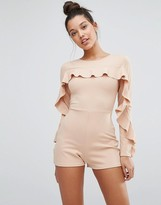 Missguided Ruffle Detail Romper