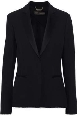 Versace Frayed Crepe Blazer