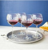 Cathy's Concepts Set Of 4 Personalized Red Wine Glasses