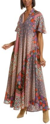 Mes Demoiselles Azalea Silk Maxi Dress