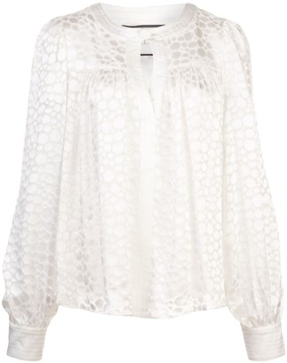 Alexis Rhida geometric print blouse