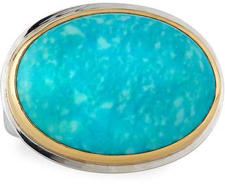 Dina Mackney Comfort-Cut Turquoise Ring