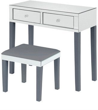 INSPIRED HOME Milano Vanity Table & Stool Set