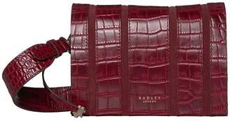 Radley London Haven Street Stripe - Small Flapover Crossbody (Merlot) Handbags