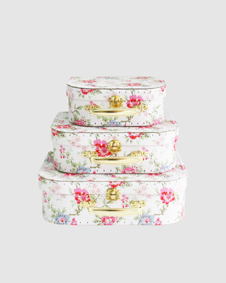 Alimrose - Girl's Pink Accessories - Kids Carry Case Set Cottage Rose - Size One Size, One size at The Iconic