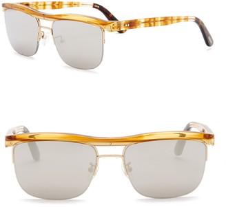 Toms Locke 56mm Clubmaster Sunglasses