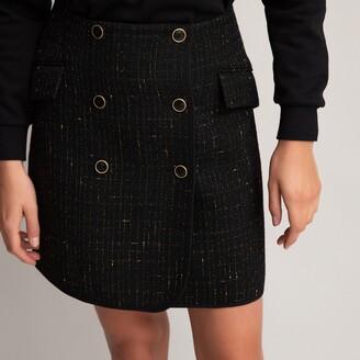La Redoute Collections Tweed Wrapover Mini Skirt