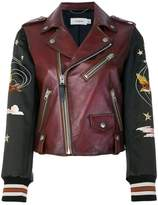 Coach embroidered souvenir biker jacket