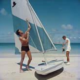 "Jonathan Adler Slim Aarons Boating in Antigua"" Photograph"