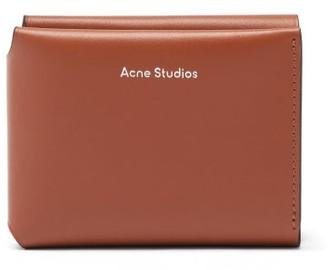Acne Studios Logo-debossed Tri-fold Leather Wallet - Tan