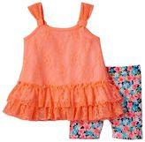 Little Lass Baby Girl Lace Tank Top & Bike Shorts Set