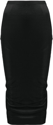 Rick Owens Lilies High Waisted Fitted Skirt