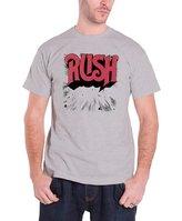 Rush Original Exploding Logo Official Mens New Grey T Shirt