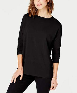 J. Jill J.Jill Women's Tee Shirts BLACK - Black Luxe Supima Long-Sleeve Tee - Women