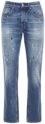 Department Five Straight Denim Jeans W/ Paint Details