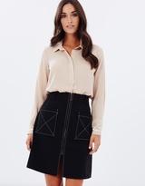 Dorothy Perkins Topstitch A-Line Skirt