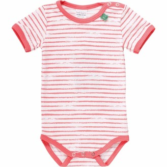 Fred's World by Green Cotton Baby Girls' Ocean Stripe S/s Body Shaping Bodysuit