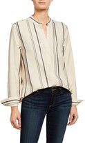 Equipment Cherine Striped Button-Front Blouse