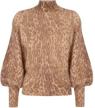Zimmermann Espionage Leopard Print Sweater