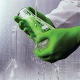 Showa Best Glove Disposable Gloves, Nitrile, L, Green, PK100