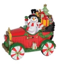 Fitz & Floyd Top Hat Frosty Musical Figurine