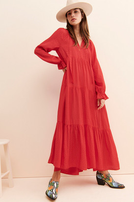 Maeve Wendy Tiered Maxi Dress