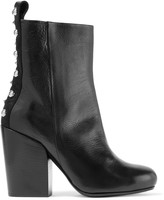 McQ by Alexander McQueen Studded paneled leather ankle boots