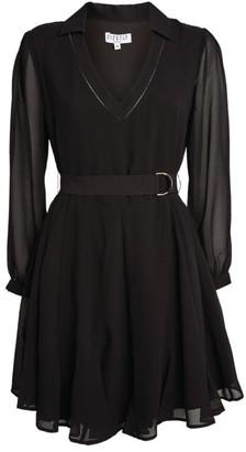 Claudie Pierlot Belted Shirt Dress