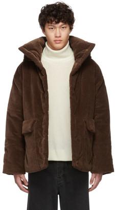 Nanushka Brown Corduroy Hide Jacket